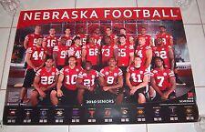 Nebraska Huskers 2010 Seniors Schedule Poster Paul Amukamara Lee Allen Rare