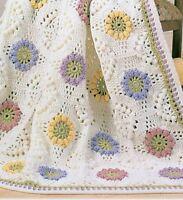 Crochet Pattern Baby Blanket Beautiful Bouquet