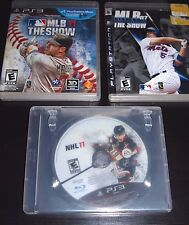 PS3 Sports Game Bundle - MLB The Show 12, MLB The Show 7, NHL 11