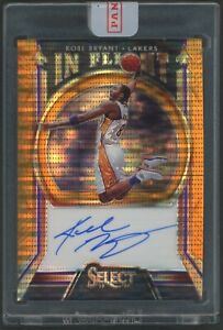 2019-20 Select Kobe Bryant Tie Dye Prizm In Flight Auto Autograph 17/35 Lakers
