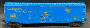 Maisto - ON TRACK: B&O #482672 BLUE BOXCAR. 1:131 SCALE Diecast TT