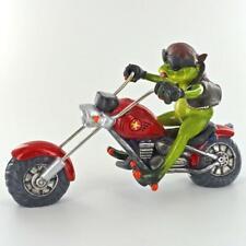 More details for comical frogs biker figurine statue frog sculpture gift