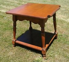 Antique Sprague and Carleton Colonial Hard Rock Maple Lamp Stand Table
