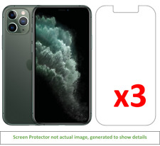 3x iPhone 11 Pro Anti-Scratch Screen Protector w/ cloth