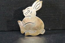 "Heavy Sterling Silver 925 Bunny Rabbit  Pin Brooch Tarnished 2"" Tall"