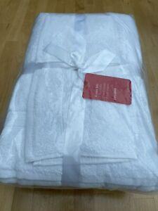 New John Lewis Bale 6 White Towels, Face, Hand, Bath Sheets