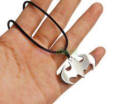 New Unisex Chain Silver Stainless Steel Bat Batman Pendant Necklace Choker Gift