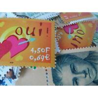 LOT DE 100 TIMBRES-POSTE 0.69 €