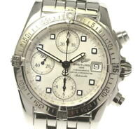 BREITLING Chrono cockpit A13357 Date Silver Dial Automatic Men's Watch_549059