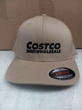 Costco Wholesale Khaki Flex Fit Hat/Black Costco Logo large/xlarge