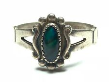 "Abalone Signed ""Cwmo� Size 7.5 Unreal .925 Sterling Silver Ladies Womens"