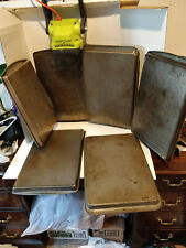 6 BAKING TRAYS SHEET PANS USED, GOOD CONDITION