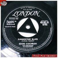 """EDDIE COCHRAN """"Summertime Blues"""" LONDON UK import rock rockabilly 45"""