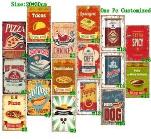 Tomato Soup Retro Metal Tin Signs Vintage Fast Food Art Wall Decor Poster
