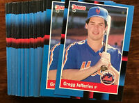 1988 Donruss GREGG JEFFERIES (RC) ~ 50 CARD LOT ~ ONCE A HIGHLY TOUTED PROSPECT