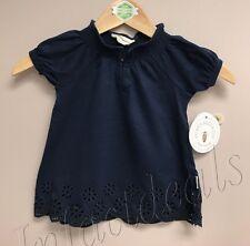 Burt's Bees Kids Toddler 100% Organic Cotton Top Navy Blue size 2T