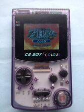 GB Boy Colour - Backlit Nintendo Game Boy Color Clone Console NEW Crystal Purple