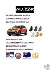 Sheepskin Car Seatcovers fits Toyota Rav 4, Seat Airbag Safe, 5 Colours , 30mmTC