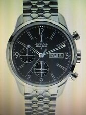 Bulova Accu Swiss 63C119 Men's Murren Day Date Automatic Chronograph Watch