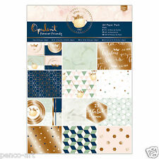 Papermania A4 Paper 32 Sheet Pack Forever Friends Opulent Papers Part Gold Foil