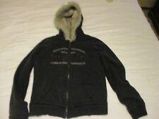 Aeropostale Hoodie Jacket Women's Junior's XL -T/G - Black with faux fur lining