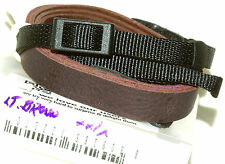 Longer Leather Fashion Camera Strap #221 (brown): Pentax Nikon Canon Sony Leica