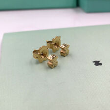 New Stainless Steel Gold-plated 18K elicate thickening Mini mone Bear Earrings