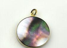 Estate $500 14K Yellow Gold Abalone Pendant