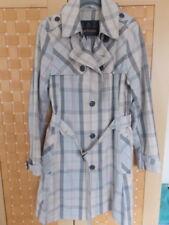 Ladies Barbour Linen Blend Tartan Check Trench Coat