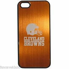 NFL Cleveland Browns Etched Logo iPhone 5 5s Brushed Metal Phone Case
