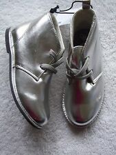 BNWT Girl's Silver Furry Lined Ankle Boots Size 8