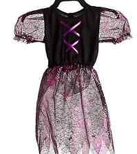 Girls Costume Black Pink Spider Web Acrylic Size 7/8 yr
