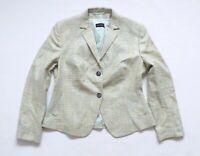 Women's Vintage WINDSOR Fitted Green Woven 100% Silk Blazer Jacket 42 UK14 UK16