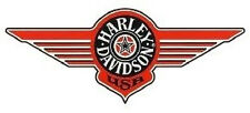 HARLEY DAVIDSON FAT BOY ARANCIONE Finestra Adesivo 19x8 window DECAL WINDSHIELD HD