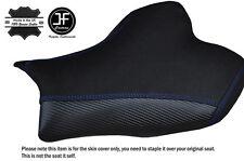 CARBON GRIP R BLUE STITCH CUSTOM FITS SUZUKI GSXR 1000 13-16 FRONT SEAT COVER