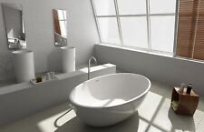 FREE STANDING BATH TUB - STONE - SOLID SURFACE - 1760x1030x550mm Model Isola