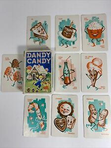 Vintage Anthropomorphic Dandy Candy Card Game Sweets Cute 1950's Children