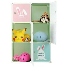 6 Cubes Portable, Children Storage Storage Rack Cube Organizer