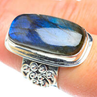 Huge Labradorite 925 Sterling Silver Ring Size 7.25 Ana Co Jewelry R52165F