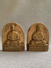 Tiffany Studios Cast Bronze Buddha Bookends