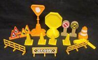 Thomas & Friends Train Railway Track Parts Decor Accessories Lot cones signs etc
