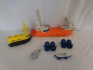 Matchbox Shark Ship Mega Rig Rolls Floats water Build your own Adventure parts