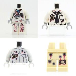 Custom Printed ZOMBIE BODY PARTS on Genuine Lego Pieces -Pick Style!- NEW