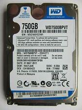 """WD Western Digital WD7500BPVT-22HXZT1 Hard Drive 750GB 2.5"""" HDD HACTJAN 2011"""