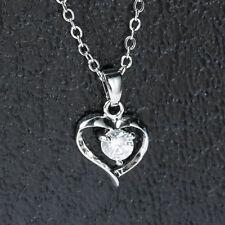 Anhänger Herz mit Zirkonia und Kette silber 45,5cm