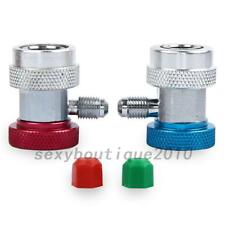 New R134a Quick Couplers Adapter A/C Air Condition High Low Gas Connector US