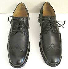 NIB Cole Haan Mens Lunargrand (C13210) Wing Tip Black Leather Shoes  Size 10 M