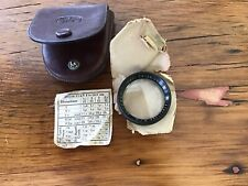 CARL ZEISS JENA DISTARLINSE 3 / III Nr 72960 PUSH ON  FILTER IN ITS LEATHER CASE