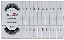 Amor Us 100% Human Hair False Eye lashes#117 (12pairs) compare Red Cherry