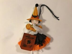 Paper doll Vintage Halloween ornaments, Witch Trick or treat  gift tag item# 33